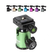 Selens mini bilya kafa Ballhead masa tripod standı adaptörü w/Quick Release plaka Canon Nikon Sony DSLR kamera kamera