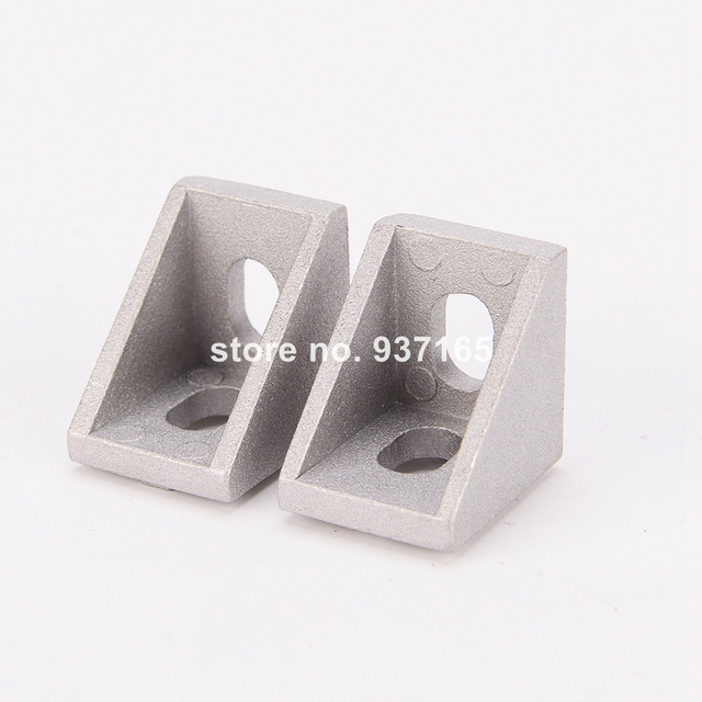 50pcs 2020 Slot6 Corner Angle L Brackets Connector Fasten connector Aluminum Profile Accessories