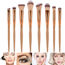 Hot sale 8Pcs/Set Metal Makeup Brushes Kit Face Foundation Eyeshadow Blush Brushes Tools цена