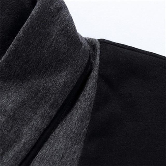 Men's T Shirts Fashion 2019 New Spring Long Sleeve T Shirts Men Black Button Stand Collar Fitness Slim Fit Tshirt Plus Size 5XL
