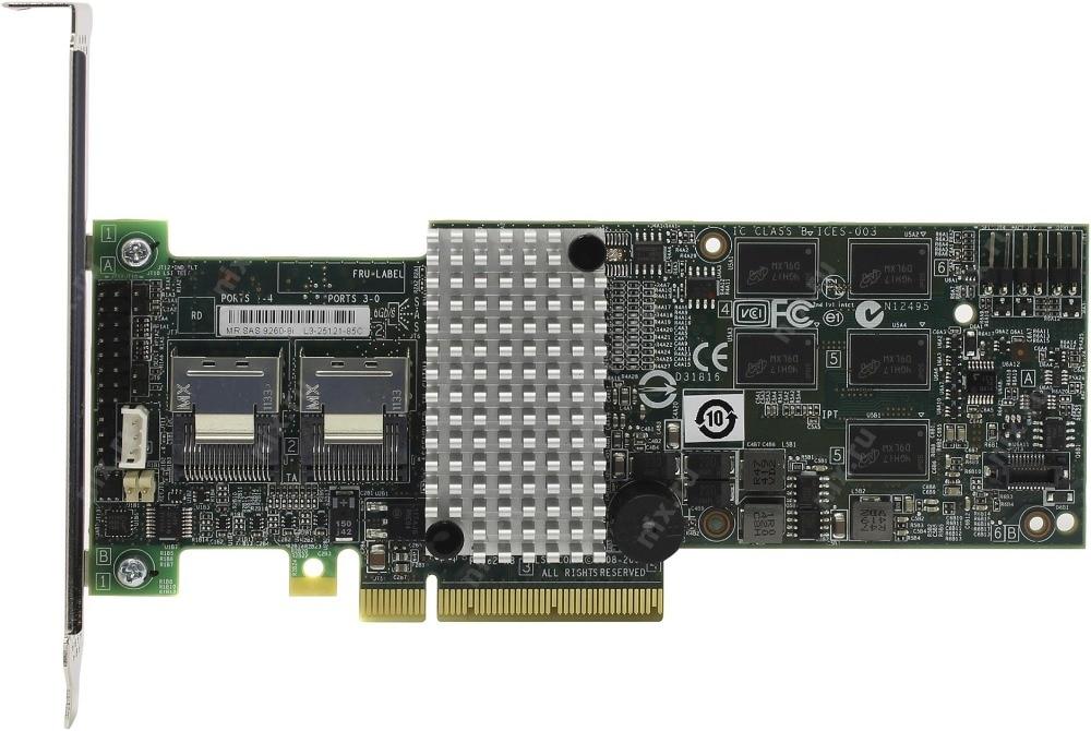 lsi00202 - RaidStorage Avago LSI MegaRAID SAS 9260-8i 8 port 512MB cache 6Gb RAID5 PCI-E 2.0 X8 Controller Card LSISAS2108