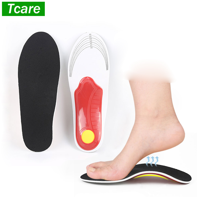 1 Pair Orthotic Shoe Insoles Arch Support Flat Feet Pronation Heel Pain Relief