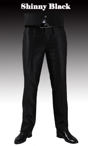 Тонкие брюки мужской формальный деловой Slim Fit Свадебный костюм брюки Diamond синий цвет красного вина черные брюки Размеры 44 плюс Размеры A37 - Цвет: Shinny Black