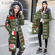 купить Brieuces 2020 winter women hooded coat fur collar thicken warm long jacket female plus size 3XL outerwear parka ladies chaqueta по цене 1617.86 рублей