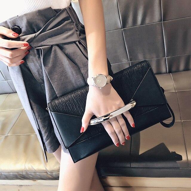 Клатч конверт для женщин, роскошные кожаные сумочки, вечерний клатч на день рождения для женщин, Дамский саквояж на плечо, кошелек