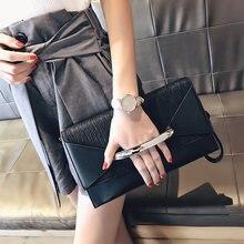 Bolsa de envelope de couro feminina, bolsa de mão de luxo feita em couro, para aniversário, festa, tarde, bolsa de mão para mulheres
