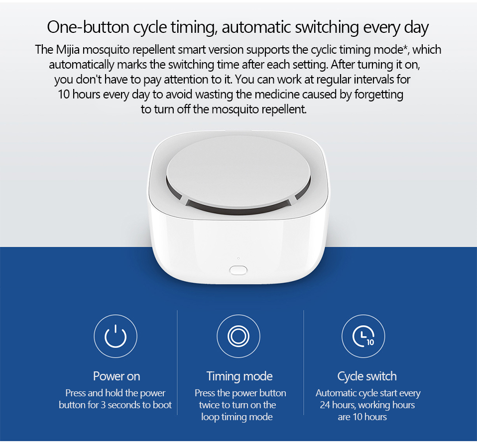 2019 New Xiaomi Mijia Mosquito Repellent Killer Smart Version Phone timer switch with LED light use 90 days Work in mihome AP (1)