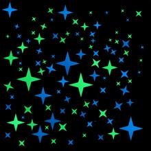 Pegatinas brillantes en la oscuridad estrella decoración de la pared calcomanías luminosas niños habitación niños dormitorio techo DIY decoración personalizada pegatina