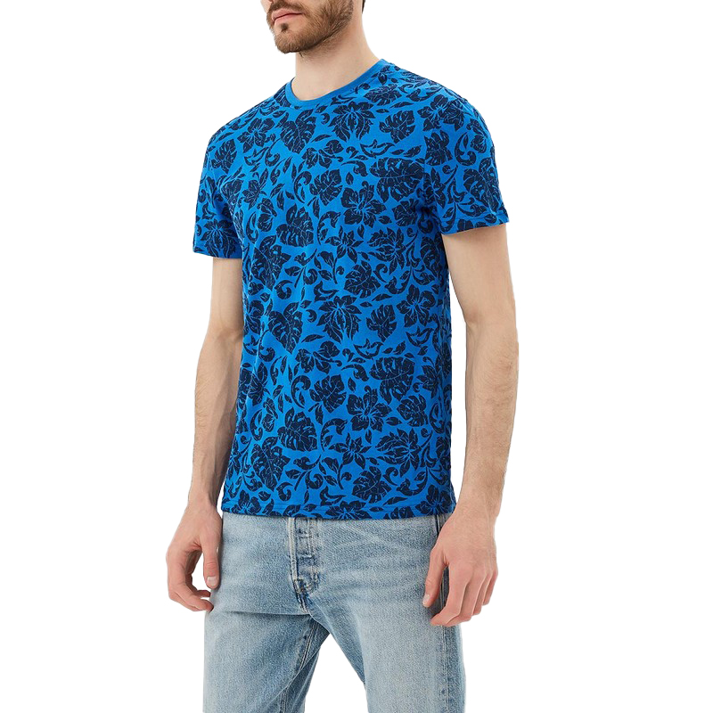 T-Shirts MODIS M181M00169 t shirt shirt cotton for male TmallFS plus size ombre floral empire waist t shirt