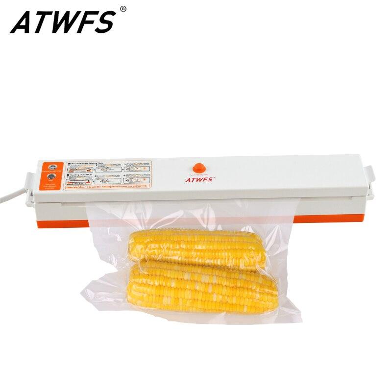 ATWFS Beste Vakuum Versiegelung Verpackung Hause Küche Vakuum Verpackung Abdichtung Maschine Lebensmittel Packer Enthalten 15 stücke Vakuum Tasche Freies