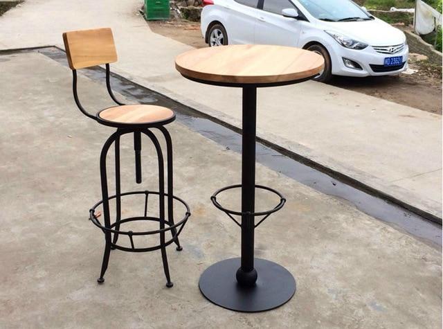 Ferro battuto tavoli in legno rotanti seggiovia bar kit di ...