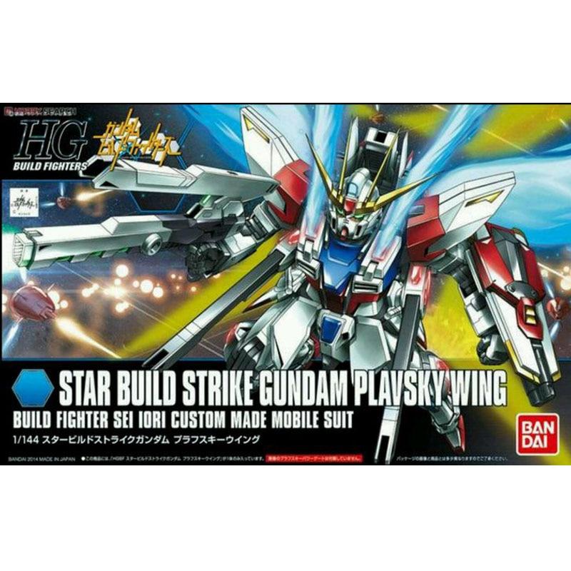 1 PCS Bandai HG Build Fighters 009 1/144 Star Build Strike Gundam Plavsky Wing Mobile Suit Assembly Model Kits HGBF GAT-X105B/ST ohs bandai mg 179 1 100 sengoku astray gundam mobile suit assembly model kits