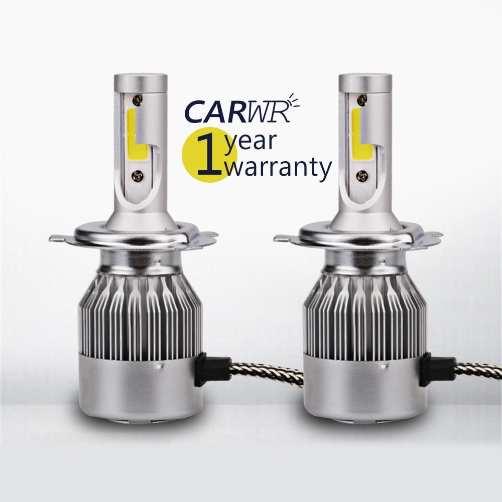 Carwr car headlight H4 H7 LED Headlight C6 H1 H3 Headlamp Light H8/H11 HB3/9005 HB4/9006 6000K 12v led light auto headlamp h1 h3 h7 9005 9004 9007 h4 h15 car led headlight bulb 30w high single dual beam white light