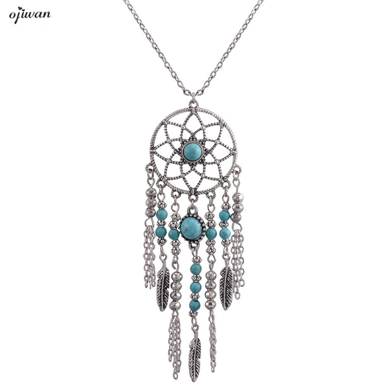 silver products womenfashion turquoise chic style boho fashion collar hot ethnic for choker women jewelry vintage statement bohemia necklace
