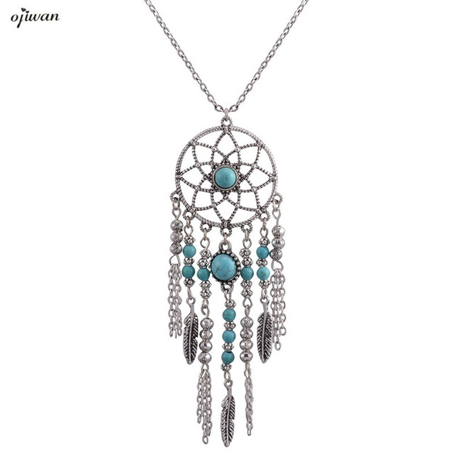 Collier plume art deco necklace navajo dream catcher necklace collier plume art deco necklace navajo dream catcher necklace hippie boho chic online shopping india native mozeypictures Choice Image