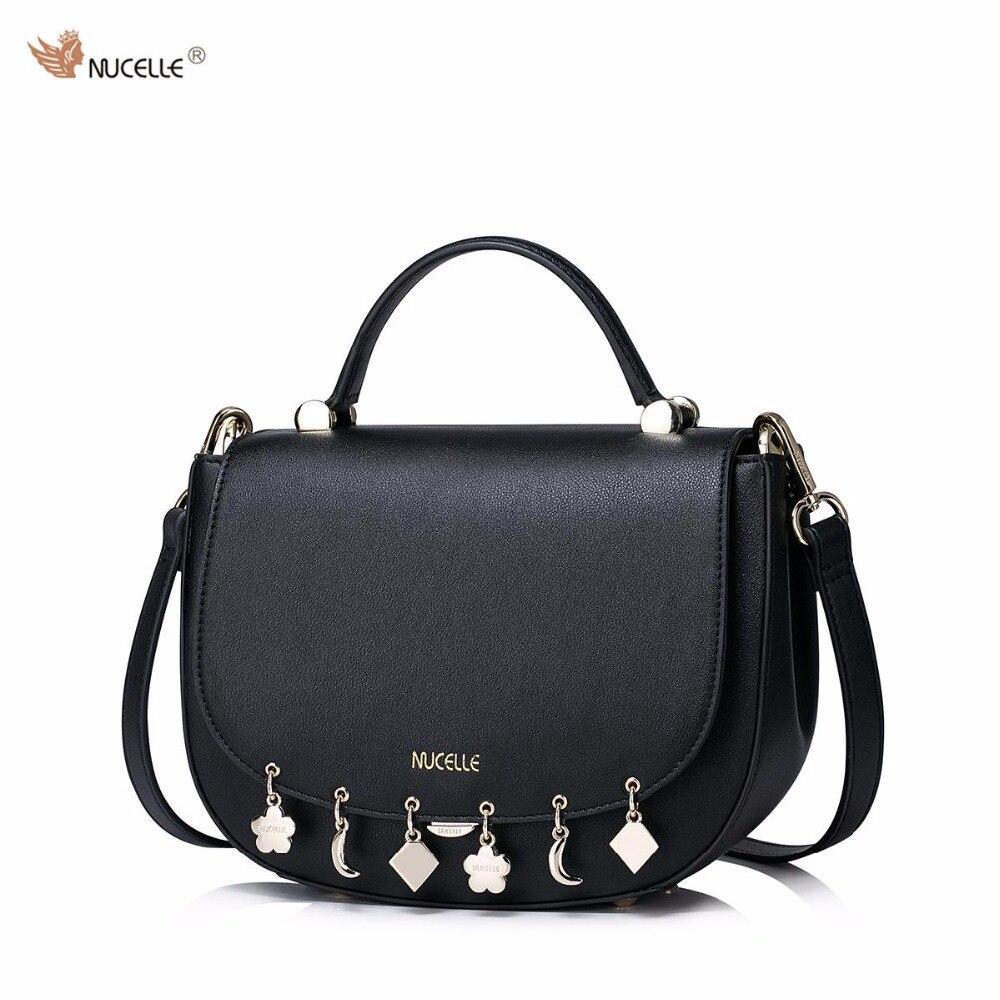 New NUCELLE Brand Design Fashion Tassel Hangings PU Leather Women Lady Shoulder Crossbody Small  Bag Girls