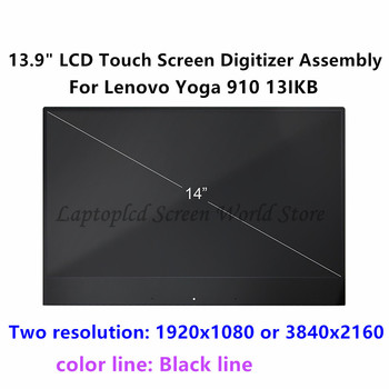 "FTDLCD 13.9"" 4K UHD FHD LED LCD TouchScreen Digitizer Display Assembly For Lenovo Yoga 910-13IKB 80VF 80VF002JUS"