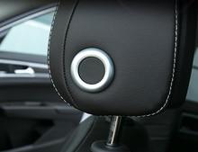 Car Styling Accessories 2PCS ABS Matte Interior Car Seat Headrest Adjustment Cover Trim For VW Volkswagen T-ROC 2017 2018