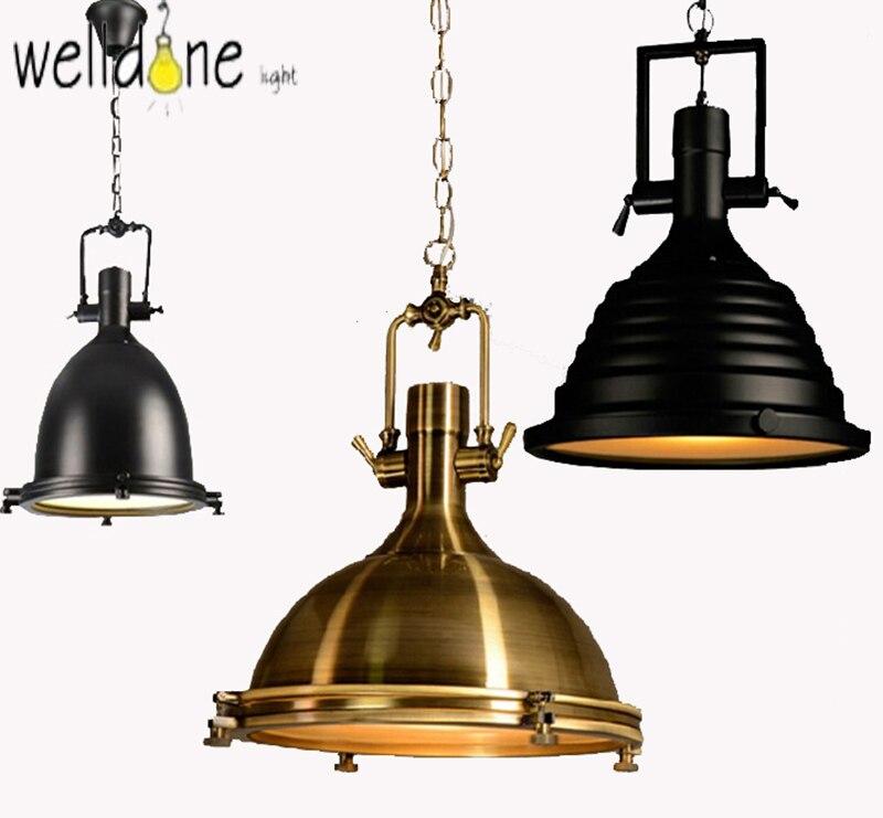 American Style Vintage Lamp RH Industrial Chrome Pendant Light Country Pendant Lamps Rustic Loft Restaurant Kitchen Pendant
