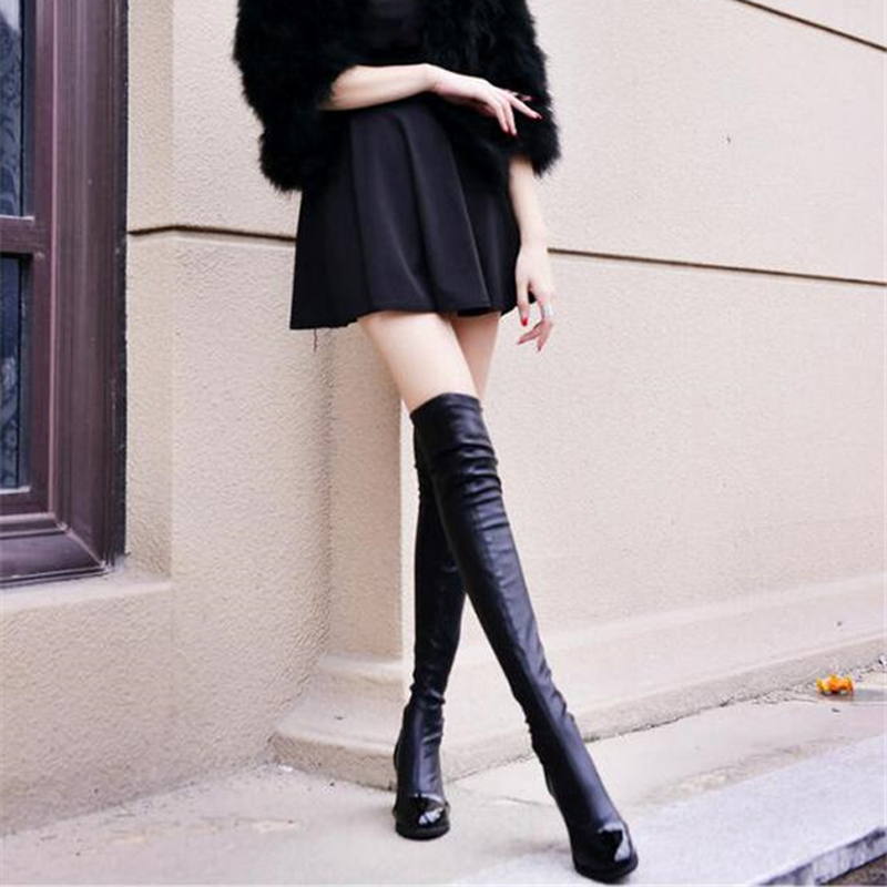 EIWELT 2018 Hot Quality Womens Over The Knee-High Boots Comfortable Thigh High Boots Black Thick Heel Thigh Riding Women Boots платье caractere платья и сарафаны мини короткие