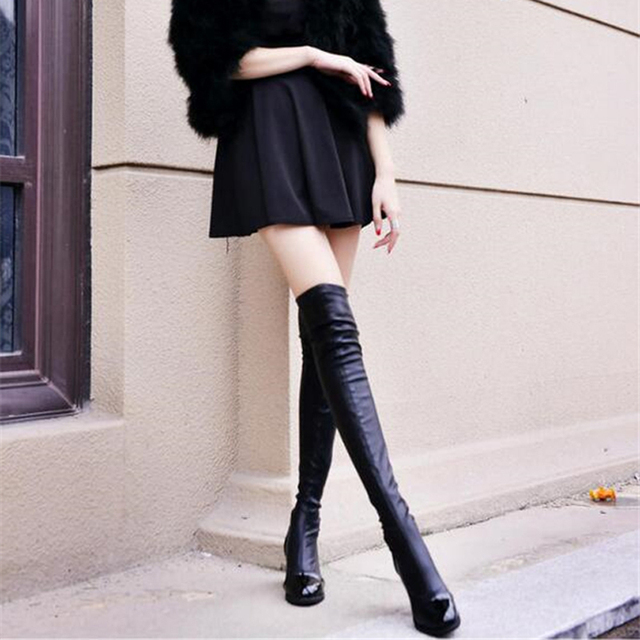 86b6331cfed EIWELT 2018 Hot Quality Womens Over The Knee-High Boots Comfortable Thigh  High Boots Black Thick Heel Thigh Riding Women Boots