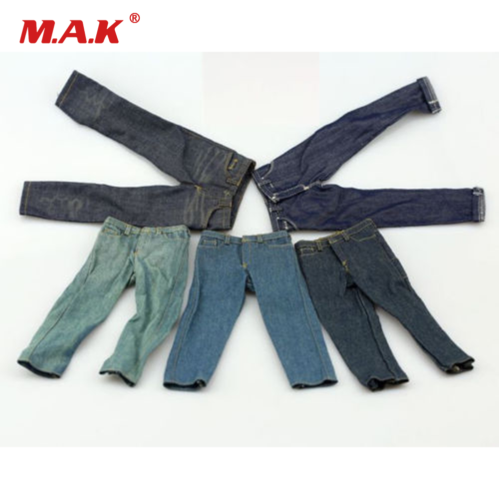 1/6 Scale Fashion Male Denim Jeans Trousers FA003 Pants 6 Styles for 12 Man Figure