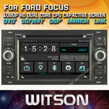 WITSON CAR DVD GPS for FORD FOCUS New Technology+Capctive Screen+1080P+DSP+WiFi+3G+DVR+Good Price+GIFT+Free shipping