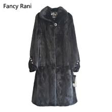 Winter Genuine Mink Fur Coats For Women Natural Mink Full Pelt Coat Turn-down Collar High Quality Overcoat Real Mink Fur Coat