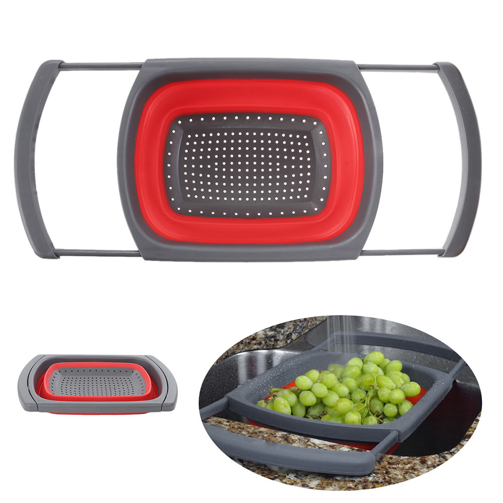 Collapsible-Silicone-Colander-Square-Over-The-Sink-With-Handle-Fruit-Vegetable-Washing-Foldable-Strainer-Basket-Kitchen