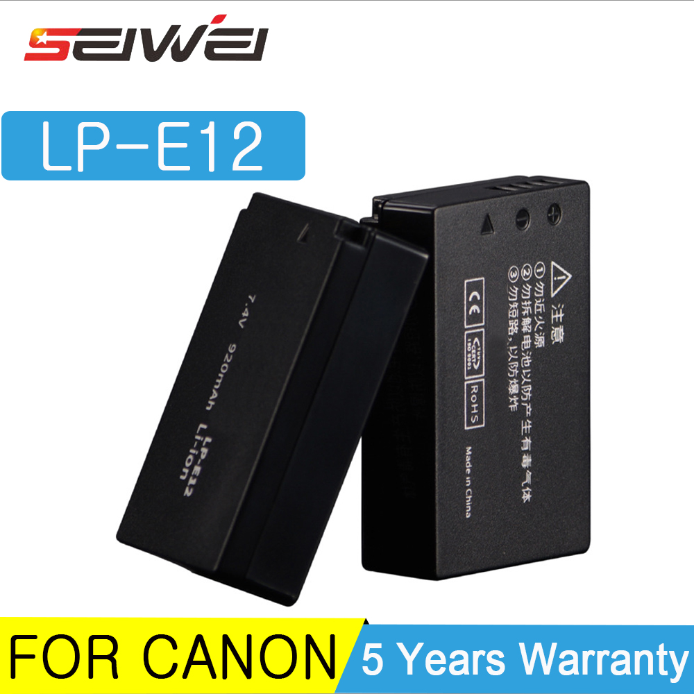 LP-E12 LPE12 LP E12 Camera <font><b>Battery</b></font> Replace <font><b>Batteries</b></font> &Rapid LCD Dual USCharger for For <font><b>Canon</b></font> M <font><b>100D</b></font> Kiss X7 Rebel SL1 EOS M10 image
