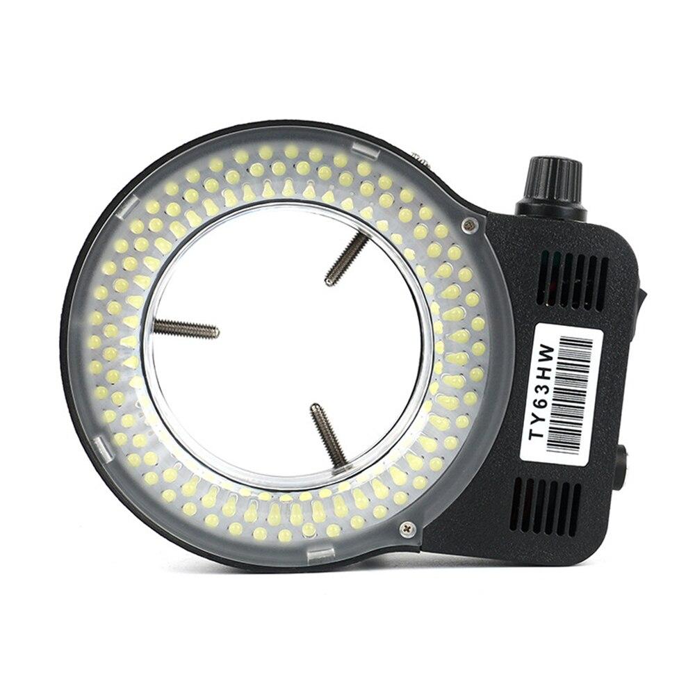 144 LEDs Adjustable 144 LED Ring Illuminator Lamp For Industry Stereo Microscope AC90V-240V Microscope Adjustable Ring Light