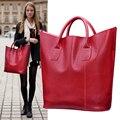 Bolsa de bolsos de cuero genuino 2015 invierno estilo de bolsos de diseño de alta calidad bolsos de cuero reales de las mujeres Bolsos de marcas famosas