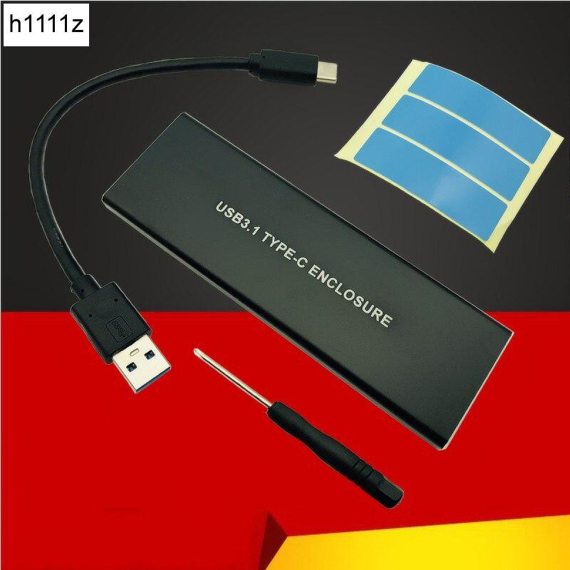 NVMe PCIE USB3.1 HDD NVMe M.2 a USB SSD Disco Duro Caddy tipo C 3,1 M clave conector caso HDD móvil externo de la caja de