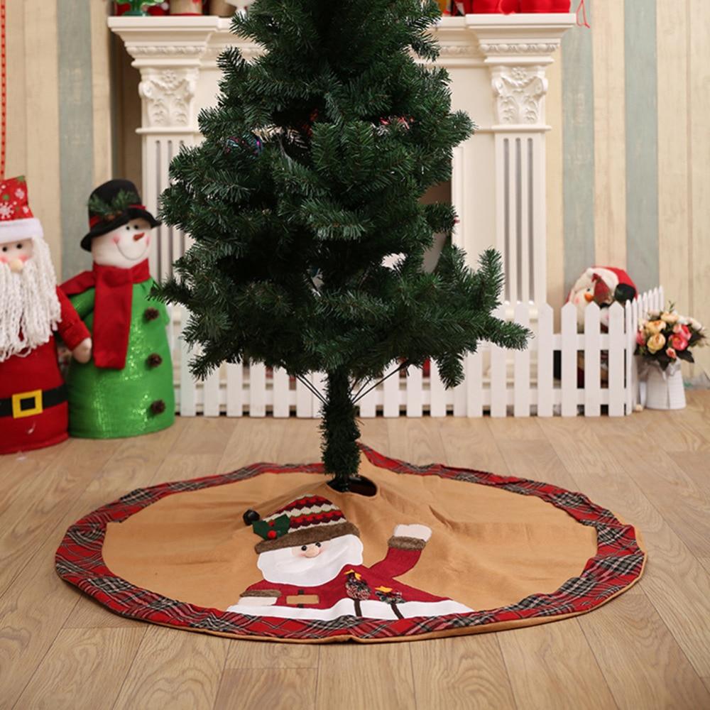 Babbo Natale 105.Us 10 39 17 Di Sconto 105 Cm Babbo Natale Pupazzo Di Neve Albero Di Natale Sveglio Gonna Grembiule Di Natale Decorazione Festa In 105 Cm Babbo