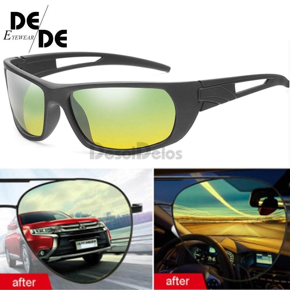 Polarized driving eyeglasses night vision goggles anti glare shining polarized sunglasses Day and glasses