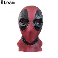 Hot Famous Movie Marvel Superhero Deadpool Mask Breathable Latex Full Face Mask Halloween Party Cosplay Full Head Game Mask Prop
