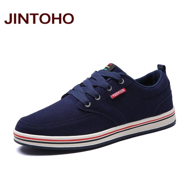 Jintoho/2017 большой размер мужская повседневная обувь модная дышащая брендовая мужская обувь больших размеров мужские туфли на плоской подошв