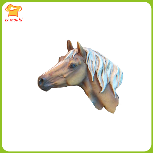 Fondant Chocolate Mold Horse Head Model Gypsum Silicone Mould Denim Mould  Embossed Horse