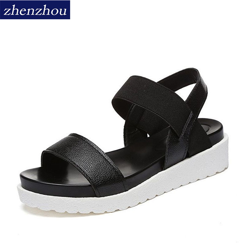 b8176b5459e88 ZHENZHOU Free shipping Woman Shoe 2018 summer sandals women Sandals shoes  woman peep-toe flat Shoes Roman sandals Women sandals | imarket online  shopping