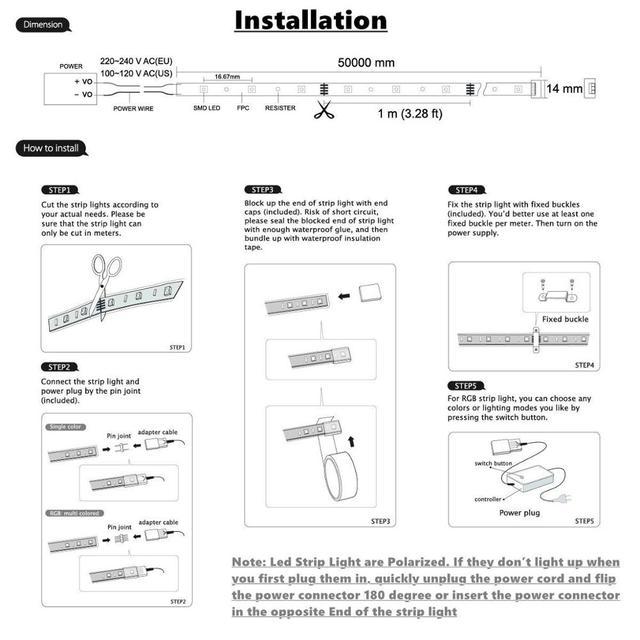 AC220V LED Strip SMD 5050 Flexible Light 60leds/m Waterproof Led Tape LED Light With Power Plug 1M/2M/5M/6M for outdoor garden