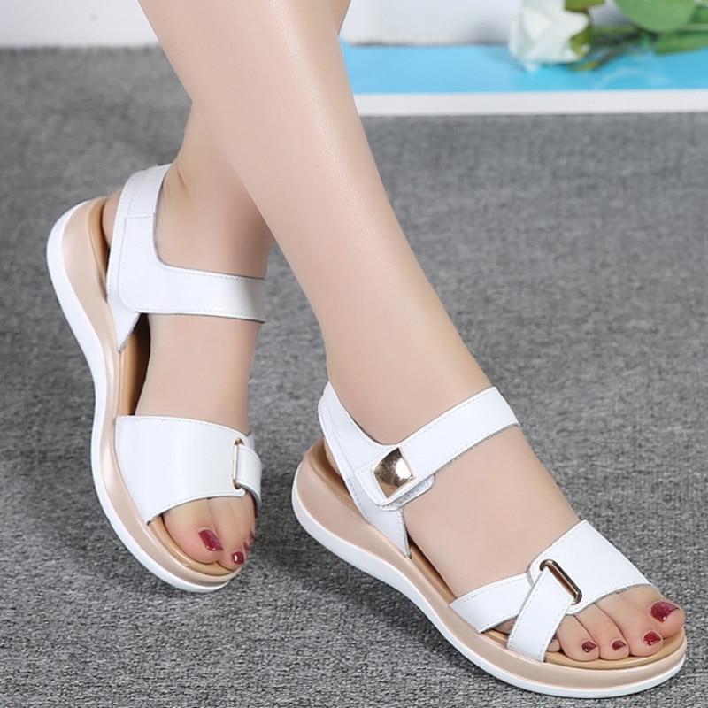 2019 New Summer Women Sandals Flat Shoes Woman Platform Sandals Comfortable Casual Hook Loop Sandalias Mujer Women's Footwear