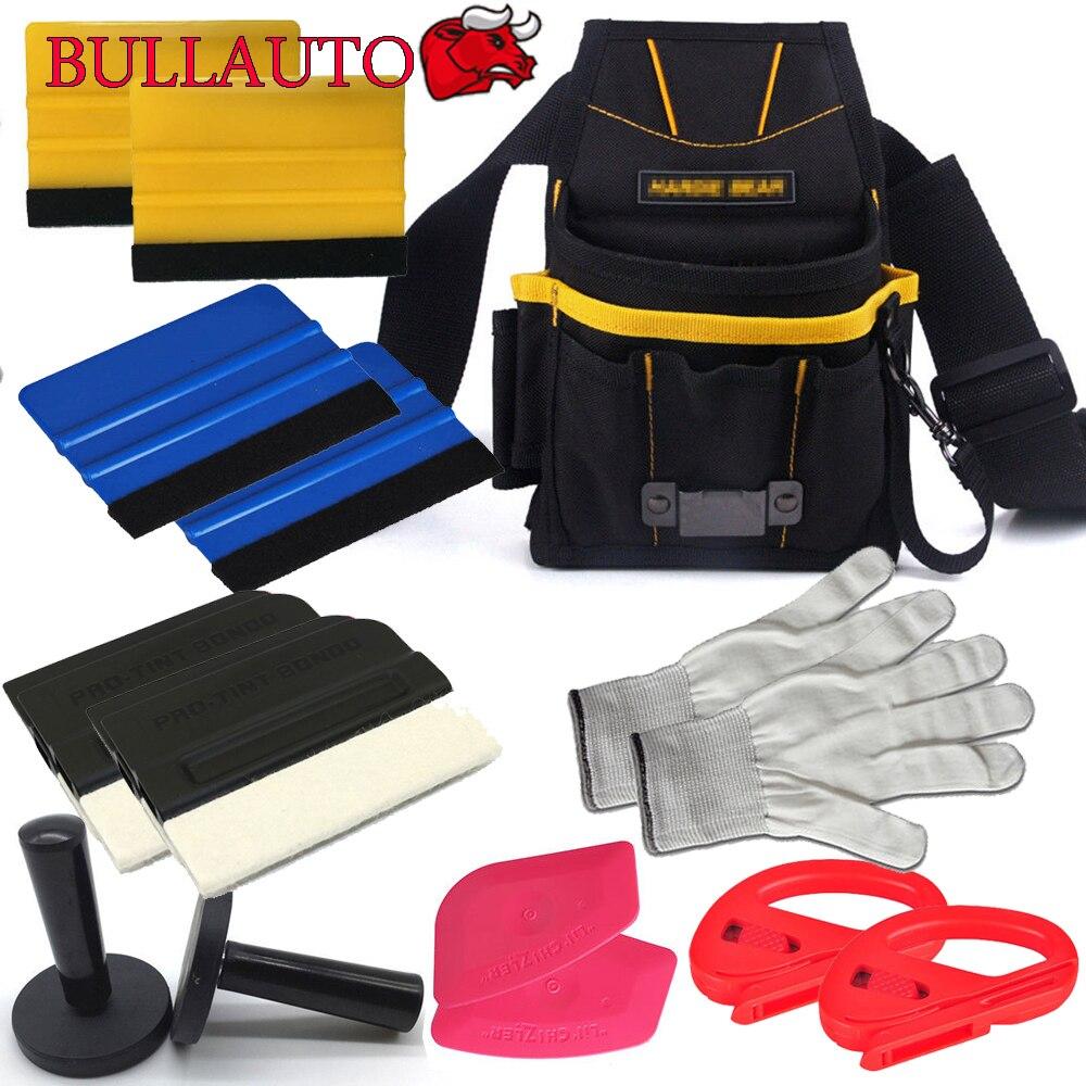 Kit d'outils de teinte de fenêtre: sac à outils avec ceinture, raclette en or 3 M, support magnétique, coupe-vinyle, raclette à carte, raclette de Contour