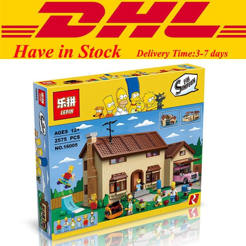 2017 MOC DHL Lepin 16005 Simpson s family Kwik E Mart Building Blocks Bricks Set Assembled