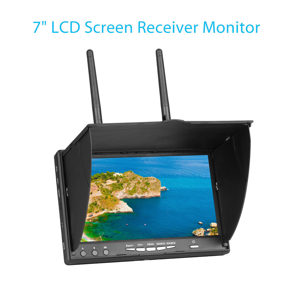 Здесь можно купить  LCD5802S 5802 40CH Raceband 5.8G 7 Inch Diversity Receiver 800x480 Monitor Video Screen Build-in Battery For RC FPV Multicopter  Игрушки и Хобби