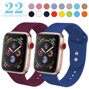 XIYUZHIYI soft Silicone Sports Band for Apple Watch 4 3 2 1 38MM 42MM Bands Rubber Watchband Strap for Iwatch series 4 40mm 44mm цвета apple watch 4
