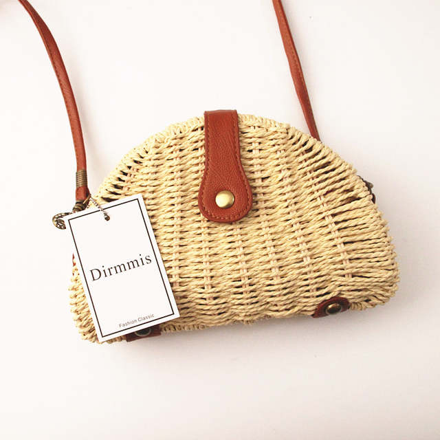 placeholder 2018 New brand Wallet fashion woman straw bags semi-circle Shoulder  Bag feminina Rattan handbag 46b946efe8