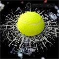 Car-styling Pegatina 3D Tenis Fútbol Baloncesto Béisbol Golpear El Vidrio Para Ford Focus 2 3 Mazda VW Golf 4 5 6 7 Polo Kia Opel