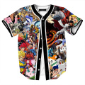 Animación 3D Camisetas Hombres Mujeres Pokemon caliente Ir de Dragon Ball de una Pieza T-shirt Homme Superman Goku Street Fighter Superior Tees