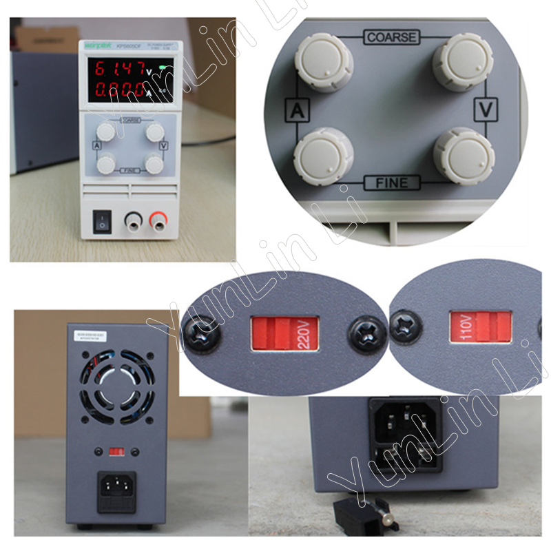 0-30V/0-5A DC Power Supply LED Digital Adjustable Switch mA Display KPS305DF 30v 5a dc regulated power high precision adjustable supply switch power supply maintenance protection function kps305df
