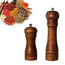 Molinillo de pimienta de madera de roble para cocina, triturador de movimiento giratorio Natural y duradero, herramientas, accesorios de cocina